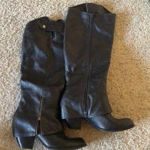 High heat black boots